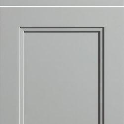 "Dura Supreme Cabinetry - Dura Supreme Cabinetry Dalton Cabinet Door Style - Dura Supreme Cabinetry ""Dalton"" cabinet door style in Paintable shown with Dura Supreme's ""Zinc"" gray paint finish."