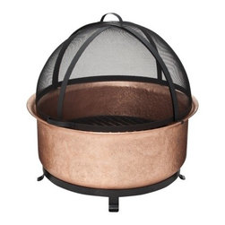 Smith & Hawken Premium Quality Copper Cauldron Fire Bowl With Screen - One of my favorite summertime activities is sitting on the patio while watching a bonfire's flame flicker.
