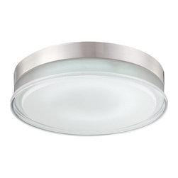 Eurofase - Eurofase 23016-019 Halo 1 Light Flushmount - Eurofase 23016-019 Halo 1 Light Flushmount