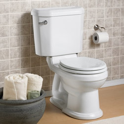 """American Standard Portsmouth Champion 4 RF RH Toilet - Meet the Champion® 4, the undisputed leader in high performance toilets. With the industry's widest 2 3/8"""" trapway and 4"""" flush valve, it virtually eliminated clogged toilets for homeowners and call backs for plumbers. The Champion 4 will move a mass 70% larger than the industry standard. It achieves the highest bulk removal rating of 1,000 grams and will even flush a bucket of golf balls! Which means you can flush with confidence!"""