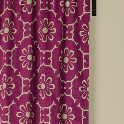 "Home Decorators Collection - World Beat Burgundy Curtain Panel - Our exclusive World Beat Burgundy Curtain Panel will be a fun addition to any room in your home. The panel is crafted of cotton satin with rod pockets. Coordinates with our World Beat Duvet Set. Machine washable, separately. 200 thread count. Panels are sold separately. 42""W in your choice of length."
