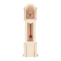 Wolf Wooden Jigsaw Mini Grandfather Clock Natural