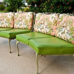Vintage Outdoor Settee Set -