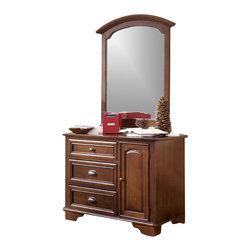 Lea - Lea Deer Run Kids 3-Drawer Single Brown Cherry Dresser and Mirror Set - Lea - Dressers - 625232625030Set - Lea Deer Run Kids 3 Drawer Single Dresser in Brown Cherry Finish