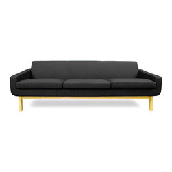 STUDIO COPENHAGEN - Richmond Dark Grey 3-Seat Couch - The Richmond Dark-Grey 3-Seat Couch offers simple lines and a thoroughly scandinavian feel. With great emphasis on comfort and a solid ash frame, the Richmond Couch is as strong and comfortable as it is aesthetically pleasing.