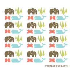 "People Towels - PeopleTowels 2 Day Supply, Protect Our Earth - ""Protect our Earth."" These words, found beneath the whimsical images of elephants, butterflies, whales and trees, require both belief and action. Take the first step by replacing wasteful and even toxic paper towels with these organic cotton towels printed with ecofriendly dyes. Sold in a set of two, these lightweight, machine-washable towels are impressively absorbent and quick to dry, making them perfectly suited for use at home or on the go."