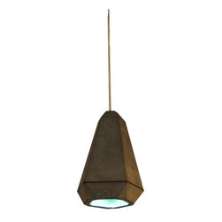 Innermost - Innermost Portland Pendant Concrete/Aqua - Portland was developed by a desire to change perceptions about concrete.