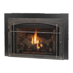 Vermont Castings - Vermont Castings VC31LDVINTSC Victory Direct Vent Insert Fireplace With Log Set - The Vermont Castings Vc31Ldvintsc Victory Direct Vent Insert Fireplace With Log Set is part of the Victory Series, and comes in a Black finish. This direct vent gas burning stove features a beautifully hand-crafted style, a ClearView glass front, a rear burner shut down, an energy efficient design, and a Total Signature Command system that allows you to control your fireplace with the touch of a button. This model runs on a natural gas fuel source.
