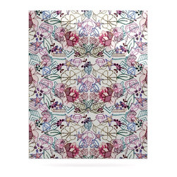 """Kess InHouse - DLKG Design """"Cool Stitch White"""" Blush Metal Luxe Panel (24"""" x 36"""") - Our luxe KESS InHouse art panels are the perfect addition to your super fab living room, dining room, bedroom or bathroom. Heck, we have customers that have them in their sunrooms. These items are the art equivalent to flat screens. They offer a bright splash of color in a sleek and elegant way. They are available in square and rectangle sizes. Comes with a shadow mount for an even sleeker finish. By infusing the dyes of the artwork directly onto specially coated metal panels, the artwork is extremely durable and will showcase the exceptional detail. Use them together to make large art installations or showcase them individually. Our KESS InHouse Art Panels will jump off your walls. We can't wait to see what our interior design savvy clients will come up with next."""