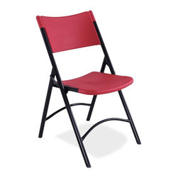National Public Seating - Blow Molded Folding Chair - Set of 4 - Set of 4. 19-gauge steel with metal underbracing on seat for added durability. Contoured seat and back for comfort. Two cross braces for strength. Light weight indoor and outdoor use. Steel contains 30-40% of post-consumer waste (recycled). Plastic contains upto 35% of pre-consumer waste. Meets ANSI and BIFMA standards. Warranty: Five years for material. Made from blow molded plastic top and steel base. 18.75 in. W x  21.5 in. D x 32 in. HThe perfect solution for your banquet and cafeteria use indoor, outdoor or any other application that calls for affordable, lightweight, weather resistant and highly durable folding chairs. The leader in quality, quick ship, institutional-grade folding furniture, is proud to introduce a line of matching blow molded folding tables and chairs. Complementing our popular speckled grey folding tables, these matching pieces allow for complete furniture setup in fellowship halls, auditoriums, dining rooms, Cafeterias or other institutional venues requiring an attractive set up that is quick and easy.