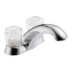 Delta Two Handle Centerset Lavatory Faucet - Less Pop-Up - 2502LF - The Classic kitchen offering provides a practical, hardworking solution that will stand the test of time, every time.