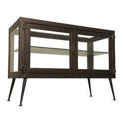 NOIR - NOIR Furniture - Metal Display Cabinet - GCON194MT - Features: