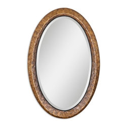"Uttermost - Uttermost Capiz Vanity Mirror - Uttermost Capiz Vanity Mirror is a Part of Carolyn Kinder Designs Collection by Uttermost Heavily antiqued capiz shell with metal rope details. Mirror has a generous 1 1/4"" bevel. Wall Mirror (1)"