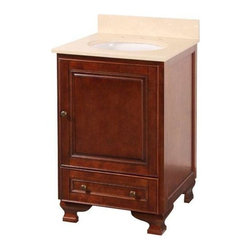 """Foremost - Foremost Hartford 22 Vanity Combo with Marble Vanity Top and Undermount Sink - Foremost HFNA2121 Hartford 22"""" Vanity Combo with Marble Vanity Top & Undermount Sink, Walnut"""