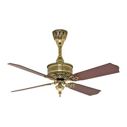 Casablanca Fan 99U69Z 19th Century Burnished Brass Ceiling Fan