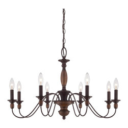 Quoizel - Quoizel HK5008TC Holbrook Chandelier - The Holbrook collection is Americana at its finest.  It features a Tuscan Brown finish that is warm and compliments the simplicity of this collection.