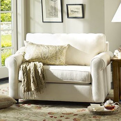 "Buchanan Upholstered Twin Sleeper Sofa, Polyester Wrap Cushions, Linen Silver Ta - Merging versatile style with exceptional comfort, our Buchanan armchair converts easily to a twin-sized bed, making it an excellent pick for small spaces - at an extraordinary value. 55.5"" w x 39.5"" d x 36.5"" h {{link path='pages/popups/PB-FG-Buchanan-3.html' class='popup' width='720' height='800'}}View the dimension diagram for more information{{/link}}. {{link path='pages/popups/PB-FG-Buchanan-5.html' class='popup' width='720' height='800'}}The fit & measuring guide should be read prior to placing your order{{/link}}. Polyester-wrapped cushions have a neat and tailored look. Proudly made in America, {{link path='/stylehouse/videos/videos/pbq_v36_rel.html?cm_sp=Video_PIP-_-PBQUALITY-_-SUTTER_STREET' class='popup' width='950' height='300'}}view video{{/link}}. For shipping and return information, click on the shipping info tab. When making your selection, see the Special Order fabrics below. {{link path='pages/popups/PB-FG-Buchanan-6.html' class='popup' width='720' height='800'}} Additional fabrics not shown below can be seen here{{/link}}. Please call 1.888.779.5176 to place your order for these additional fabrics."