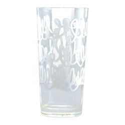 Ben Collection - Glass Tumbler Set- White