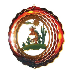 Great World - 12 Inch Kokopelli with Cactus 3-D Zephyr Spiral Wind Spinner - This gorgeous 12 Inch Kokopelli with Cactus 3-D Zephyr Spiral Wind Spinner has the finest details and highest quality you will find anywhere! 12 Inch Kokopelli with Cactus 3-D Zephyr Spiral Wind Spinner is truly remarkable.