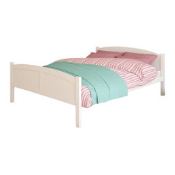 Sonax - Sonax CorLiving Concordia Solid Wood Platform Bed in White Finish-Full Size - Sonax - Beds - BCC518D - Enhance any sleeping space with a bed from CorLiving. The fresh white painted solid wood bed with simple arched styling will provide the perfect spot to curl-up. The Concordia Collection is not only good looking but is upgraded featuring 12 slats of support - No box spring is needed so you can place your mattress directly on the sturdy wood slats. Rest comfortably knowing you�ve invested in a solidly constructed bed from CorLiving.