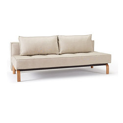 """Innovation"" Sly Deluxe Mixed Dance Natural Sofa Bed / Lacquered Oak Legs - Features:"