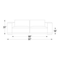 Clayton Modern Leather Sofa - PRODUCT DESCRIPTION