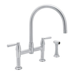 Contemporary Bridge Kitchen Faucet with Sidespray | Rohl - ROHL