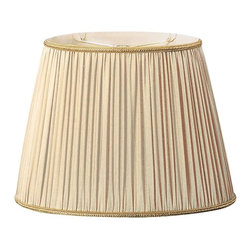Royal Designs, Inc. - Oval Pleated Designer Lampshade - This Pleated Designer Lampshade is a part of Royal Designs, Inc. Timeless Designer Shade Collection and is perfect for anyone who is looking for an elegant yet detailed lampshade. Royal Designs has been in the lampshade business since 1993 with their multiple shade lines that exemplify handcrafted quality and value.