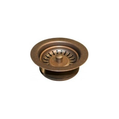 Disposer Trim W/Basket Strainer In Weathered Copper - This Native Trails drain is designed to fit the ISE type disposer unit and can be used with our hand hammered copper kitchen and bar/prep sinks.