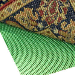Rug Pad Corner - Super Hold Natural Rubber Square Rug Pad, 4x4 - Prevents rug slipping with 100% natural rubber, no sticky adhesive