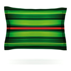 "Kess InHouse - Matthias Hennig ""Stripes"" Pillow Sham (Woven, 40"" x 20"") - Pairing your already chic duvet cover with playful pillow shams is the perfect way to tie your bedroom together. There are endless possibilities to feed your artistic palette with these imaginative pillow shams. It will looks so elegant you won't want ruin the masterpiece you have created when you go to bed. Not only are these pillow shams nice to look at they are also made from a high quality cotton blend. They are so soft that they will elevate your sleep up to level that is beyond Cloud 9. We always print our goods with the highest quality printing process in order to maintain the integrity of the art that you are adeptly displaying. This means that you won't have to worry about your art fading or your sham loosing it's freshness."