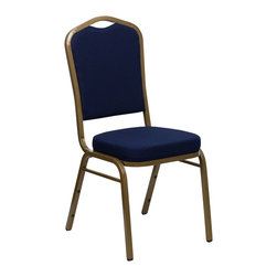 Flash Furniture - Flash Furniture Banquet Stack Chairs Banquet Stack Chairs - This is one tough chair that will withstand the rigors of time. With a frame that will hold in excess of 500 lbs., the HERCULES Series Banquet Chair is one of the strongest banquet chairs on the market. You can make use of banquet chairs for many kinds of occasions. This banquet chair can be used in Church, Banquet Halls, Wedding Ceremonies, Training Rooms, Conference Meetings, Hotels, Conventions, Schools and any other gathering for practical seating arrangements. The banquet chair is also great for home usage from small to large gatherings. For any environment that you use a banquet chair it will put your guests at a greater comfort level with the padded seat and back. Another advantage is the stacking capability that allows you to move the chairs out of the way when not in use. With offerings of comfort and durability, you can be assured that you can enjoy this elegant stacking banquet chair for years to come. [FD-C01-ALLGOLD-2056-GG]