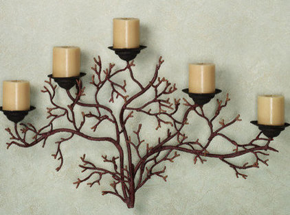 Candles And Candleholders Coral Reef Wall Candelabra