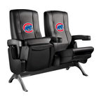 Dreamseat Inc. - Chicago Cubs MLB Row One VIP Theater Seat - Double - Check out these fantastic home theater chairs. These are the same seats that are in the owner's VIP luxury boxes at the big stadiums. It has a rocker back and padded seat, so it's unbelievably comfortable - once you're in it, you won't want to get up. Features a zip-in-zip-out logo panel embroidered with 70,000 stitches. Converts from a solid color to custom-logo furniture in seconds - perfect for a shared or multi-purpose room. Root for several teams? Simply swap the panels out when the seasons change. This is a true statement piece that is perfect for your Man Cave, Game Room, basement or garage.