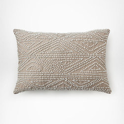 DVF Beaded Border Pillow - Add runway style and beautiful texture to your bed or sofa with this chic pillow from Diane von Furstenberg.