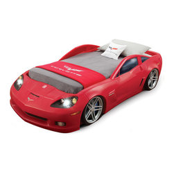 Corvette Toddler Bed, Red - This twin bed would be awesome by itself, but the fact that it has headlights put its coolness quotient over the top! It's also available in blue. Vroom!