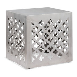 ZUO ERA - Kailua Stool Stainless Steel - A functional piece of modern Moroccan design, the Kailua stool's stainless steel body allows it to be very versatile.
