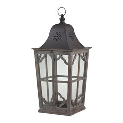 Sterling Industries - Sterling Industries 137-001 High Green-Large Wooden Lantern - Lantern (1)