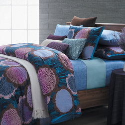 None - Fantasy 7-piece Duvet Cover Set - With this seven-piece duvet cover set, youll have everything you need to update your bedroom decor. Each piece is made from 100 percent cotton and features a coordinating, colorful floral print that adds life and energy to any space.