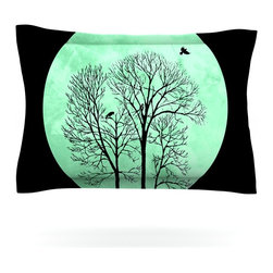 """Kess InHouse - Micah Sager """"Perch"""" Teal Circle Pillow Sham (Cotton, 40"""" x 20"""") - Pairing your already chic duvet cover with playful pillow shams is the perfect way to tie your bedroom together. There are endless possibilities to feed your artistic palette with these imaginative pillow shams. It will looks so elegant you won't want ruin the masterpiece you have created when you go to bed. Not only are these pillow shams nice to look at they are also made from a high quality cotton blend. They are so soft that they will elevate your sleep up to level that is beyond Cloud 9. We always print our goods with the highest quality printing process in order to maintain the integrity of the art that you are adeptly displaying. This means that you won't have to worry about your art fading or your sham loosing it's freshness."""