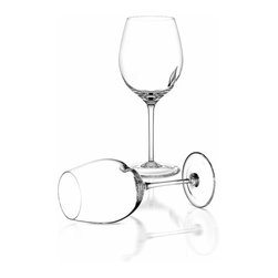 Arnolfo Di Cambio - Brunello Tecnico Red Wine Glass (Set of 2) - The Calice Brunello (21 oz) was designed by some of the sommeliers of the Brunello di Montalcino Consortium and is mouth blown and hand cut by master glass makers. It is characterized by its voluminous bowl and the hand made cleft in its side. The mouth is relatively narrow in comparison to the bowl in order to enhance the wine's bouquet and to ensure the correct flow into the mouth. The widest part of the bowl is somewhat high, allowing a large surface area of the wine to be exposed after swirling the wine against the cleft in the glass to obtain maximum expression of even the hardest to release aromatic components. The fragrances released by the wine are collected in the upper part of the glass, providing the nose with a maximum expression of the fruit.