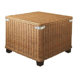 MIDWEST CBK - Woven Rattan Square Ottoman with Metal Accents - Woven Rattan Square Ottoman with Metal Accents. Shop home furnishings, decor, and accessories from Posh Urban Furnishings. Beautiful, stylish furniture and decor that will brighten your home instantly. Shop modern, traditional, vintage, and world designs.