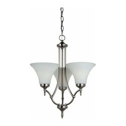 Sea Gull Lighting - 3-Light Chandelier Antique Brushed Nickel (includes bulbs) - 31180BLE-965 Sea Gull Lighting Montreal 3-Light Chandelier with a Antique Brushed Nickel Finish