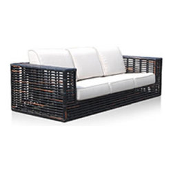 Topaz Sofa - I like the lightweight feel of the base on this couch. It's a great way to have a substantial piece of furniture outdoors without feeling like you're overshadowing the entire space.