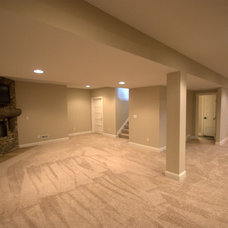 Traditional Basement by Legacy Homes of Medina, Inc