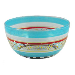 """Golden Hill Studio - Mosaic Carnival 6"""" Bowl - A little bit of artistic flair can go a long way. For instance, this diminutive bowl can hold nuts and candies on a side table, salad on the dining table, condiments on a buffet or even some of your small treasures, bedside."""
