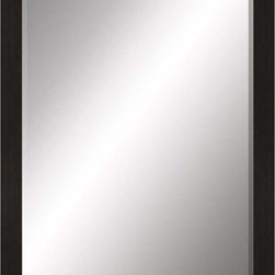 Paragon Decor - Beveled Mirror, Contemporary Flat Black, 36x48 - Mirror, Mirror, on the wall, who's the most beautiful mirror of them all? Reflect your impeccable taste with this contemporary-style mirror, which features a gorgeous simple flat black frame and high-quality interior beveled mirror. This piece measures 41 inches wide, 2 inches deep, and 53 inches high.
