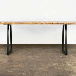 Kirlin Live Edge Dining Table - District 8. 88w x 37d x 29h. Available for order at Warehouse 74.
