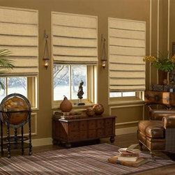 Soft Roman Shades - The unique flow of fabric is created by hobbling the face fabric onto the lining at regular intervals until it cascades like waves in calm water. The Soft Style Roman Shade is one of the most popular and best selling style roman shade, check it out for yourself!