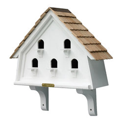 Good Directions, Inc. - Lazy Hill Farm Designs Flat Bird House - The base of all of our bird houses and feeders are made of a solid cellular vinyl, a wood alternative that gives you the look and feel of wood, with little maintenance. The end result is an architecturally pleasing house that looks like wood, but lasts like vinyl. The redwood roofs are made to endure the elements year after year.Our copper tops age over time to a natural patina!